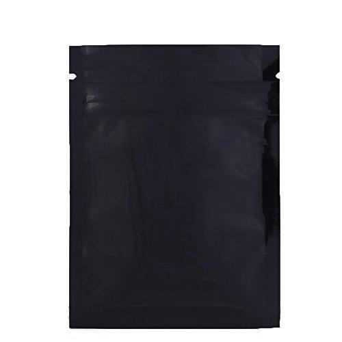 100 Durable Double-Sided Metallic Foil Mylar Flat Ziplock Bag 7.5x10cm (3x4