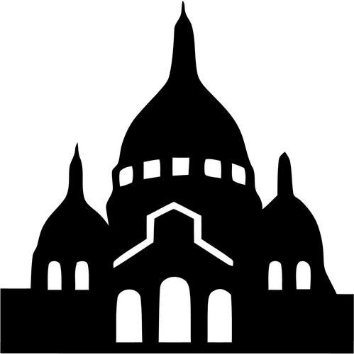 Mandy Graphics Paris Basilica Sacre Coeur Catholic Church Vinyl Die Cut Decal Sticker for Car Truck Motorcycle Windows Bumper Wall Home Office Decor Size- [8 inch/20 cm] Tall and Color- Gloss Black