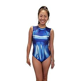CosplayLife Zero Suit Samus One Piece Swimsuit | Bathingsuit Sexy Girl Summertime Cosplay Costume