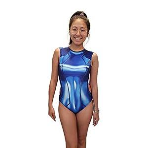 Cosplaylife Zero Suit Samus One Piece Swimsuit Bathingsuit Metroid Sexy Girl Summertime Cosplay Costume