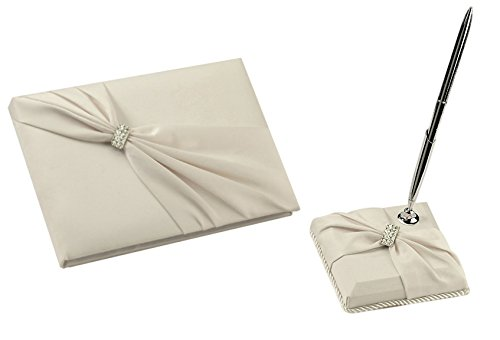 - Bundle of Lillian Rose Wedding Ceremony Guest Book and Pen Set (Ivory Sash)