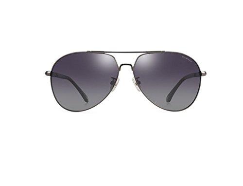 Plata Reflectante Color De Circular Gafas Polarización De Enmarcado Gafas Hombres De Película Rifle NHDZ Moda Espejo De wZR7HPnqx