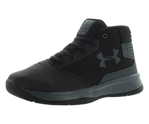 Under Armour Boys' Pre School Jet 2017 Basketball Shoe, Black (001)/Rhino Gray, 2.5