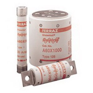 Mersen A60X Amp-Trap Form 101 Semiconductor Protection Fuse with Bolt-In Blade Mount Trigger Actuator, 600VAC, 100kA AC, 125 Ampere, 1-7/32'' Diameter x 4-13/32'' Length