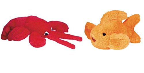 Talking Lobster - Multipet Look Who's Talking Goldfish & Lobster Dog Toy Set of 2