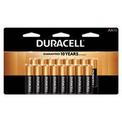 Duracell MN1500B16Z CopperTop Alkaline Batteries, AA, 16/PK
