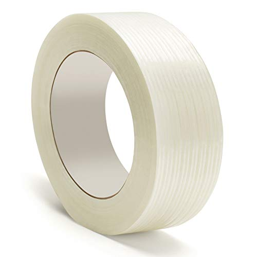 - Heavy Duty Packing Tape, Filament Reinforced Tape Rolls, 4.0 Mil Thick, Clear, 1 Inch x 60 Yards, 18 Pack