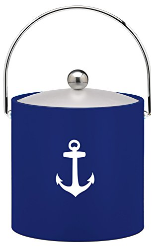 (Kraftware Kasualware Collection Anchor Ice Bucket, Blue- 3)