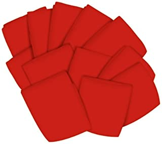 """product image for SheetWorld 12 Pack Fitted Crib/Toddler Sheets 28"""" x 52"""" - Solid Red Jersey Knit - Made in USA"""