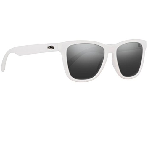 Classic White Frame Polarized Sunglasses With Black UV Protection Lenses For Men & Women - The Yeti By NECTAR
