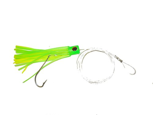 Saltwater Fishing Lure Chugger Green Rigged for Offshore Trolling Wahoo Marlin Tuna Dolphin