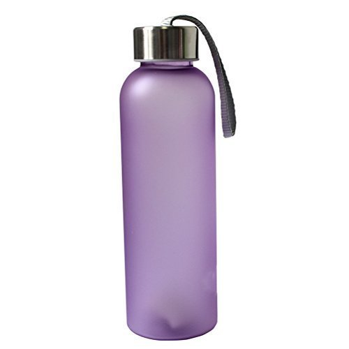 600ML Portable Camping Cycling Frosted Bottle Water Bottle(Purple)