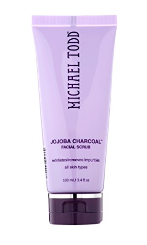 Michael Todd Jojoba Charcoal Facial Scrub Exfoliates and Remove Impurities for All Skin Types, 3.4 Fl Oz
