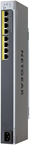 NETGEAR GS408EPP Easy-Mount 8-Port Gigabit PoE+ Smart Managed Plus Gigabit Switch | 8-Port 124w Power-over-Ethernet+ | ProSAFE Lifetime Protection by NETGEAR