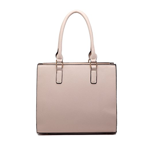 Faux Large Shoulder Tote Women Bags 1650 With Stylish Handbag Pocket Front Designer Leather Beige Miss Satchel For Lulu 8qtPSXxX