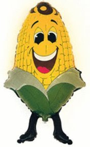 Corn Shape - 34 Inch Foil - Corn Shape - Flat