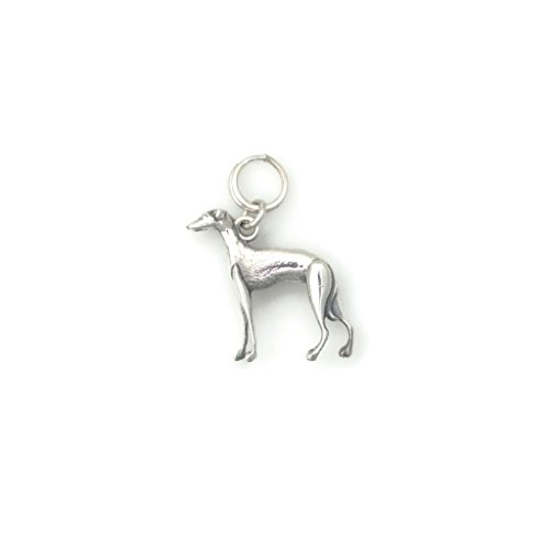 Italian Jewelry Designs (Sterling Silver Italian Greyhound Charm, Silver italian Greyhound Jewelry fr Donna Pizarro's Animal Whimsey Collection)