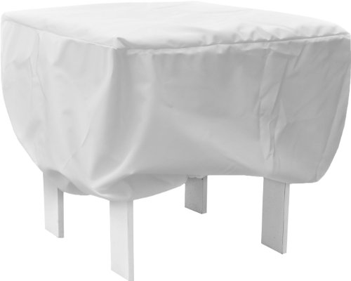 KoverRoos Weathermax 14225 18-Inch Ottoman/Small Table Cover, 20 by 20 by 15-Inch, White