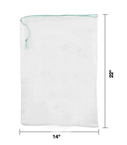 LAVZAN 14'' X22'' (10Pcs) Nylon Netting Protect Bags For Fruits Vegetables Protect Your Fruit From Birds Insects Squirrels