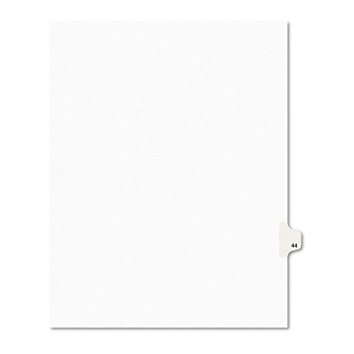 Avery Legal Dividers, Premium Individual Tab Titles, Letter Size, Side Tabs, 44, Pack of 25 - Title Letters