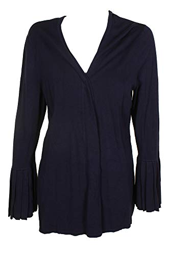 Charter Club Womens Plus Open Front Bell Sleeves Cardigan Sweater Navy 1X ()