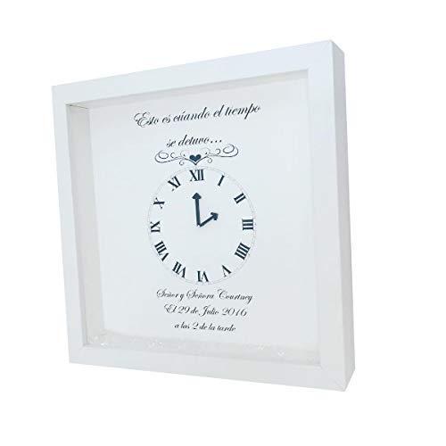 Time Stood Still Wedding Frame