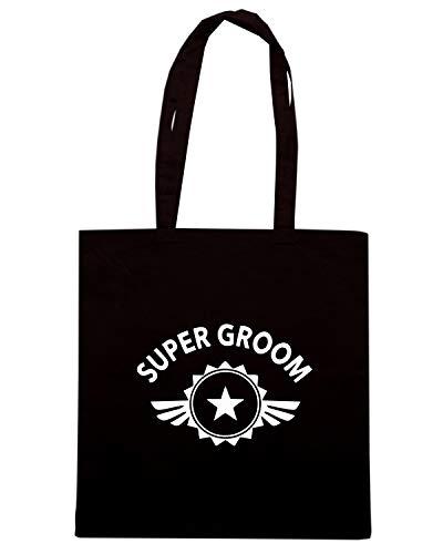Shopper SUPER GROOM MAT0074 Shirt Speed Nera Borsa pwOOE8