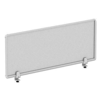- Alera ALEPP4718 Polycarbonate Privacy Panel, 47w x 18h, Silver