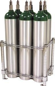 Stack & Rack Oxygen Tank Storage Rack - Holds 6 E Size Cylinders