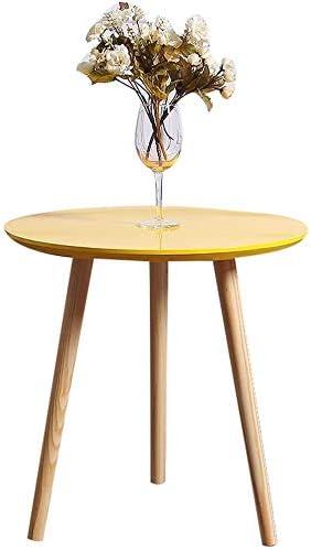 Mesa redonda de madera gruesa, jardín Balcón Mesa de descanso del hotel La mesa decorativa de