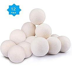 Wool Dryer Balls Organic XL 12-Pack, Pre...