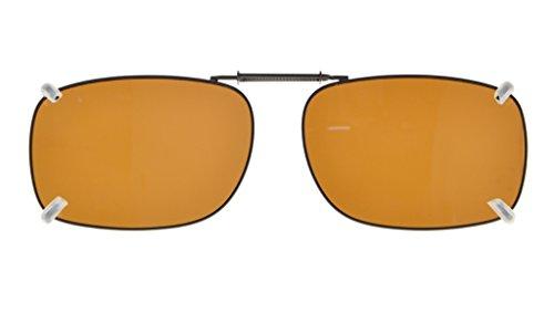 Eyekepper Sur-Lunettes de soleil polarisee monture metallique 51*36MM Marron