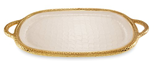 Julia Knight 7560315 Florentine Gold Handled Tray One Size Snow by Julia Knight (Image #1)