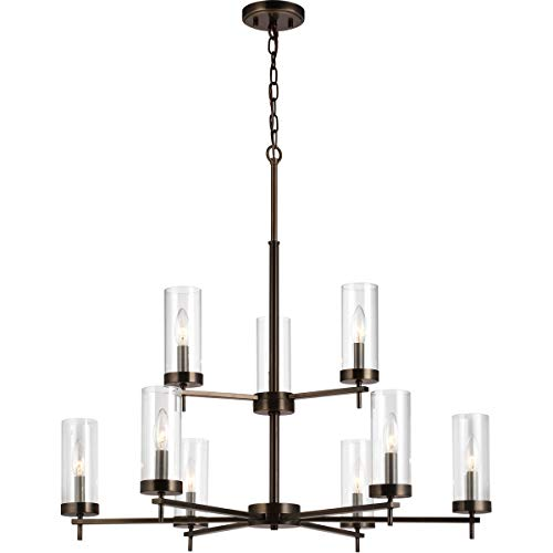 Decovio 16502-BOC9 Reading 9 Light 32 inch Brushed Oil Rubbed Bronze Chandelier Ceiling Light from Decovio