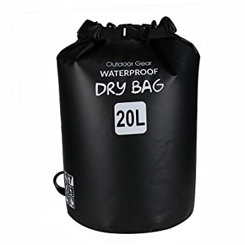 Iokone Outdoor Dry Bag 20L Lightweight Waterproof Floating Bag PVC Wet Dry  Sacks for Kayaking   315b7dba4d5f6
