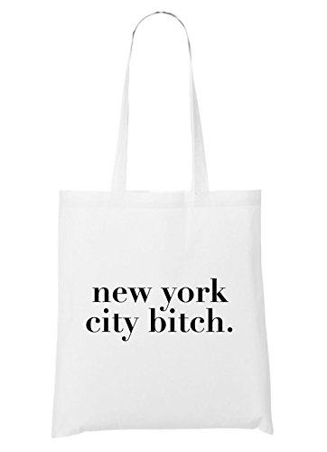 City Blanco Bitch New Bolsa York 5np66wxqv