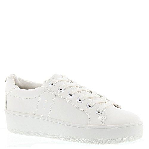 Steve Madden Women's Bertie White Sneaker 11