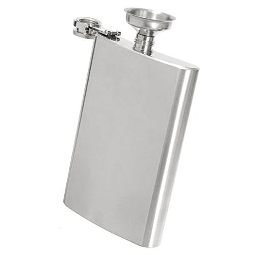 Hip-Flask-FOXNOVO-10oz-Stainless-Steel-Vodka-Whisky-Hip-Flask-with-Mini-Funnel
