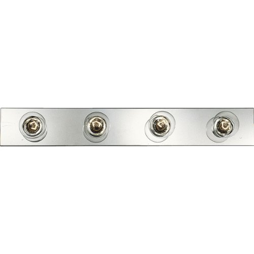 Progress Lighting P3115-15 Basic Broadway Lighting Strips That Use Fewer Lamps on 7-1/2 Inch Centers and UL Listed for Ceiling Mounting with 25 Watt Lamps, Polished Chrome