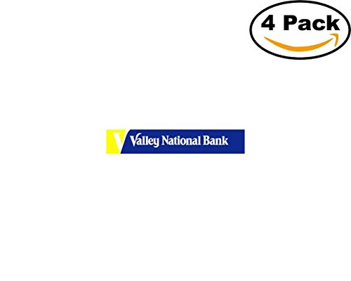 Valley National Bank 4 Stickers 4X4 Inches Car Bumper Window Sticker Decal