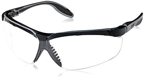 - Uvex S3700 Genesis Slim Safety Eyewear, Pewter and Black Frame, Clear Ultra-Dura Hardcoat Lens