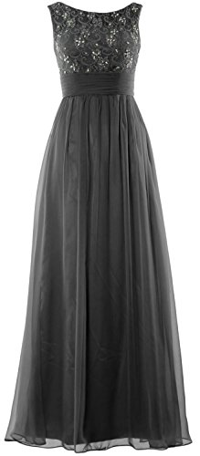 MACloth Women Lace Chiffon Long Prom Dress Wedding Party Formal Evening Gown Negro