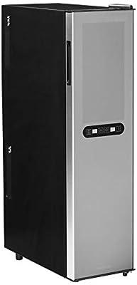 Wine Enthusiast Silent 18 Bottle Wine Refrigerator - Freestanding Slimline Upright Bottle Storage Wine Cooler, Black