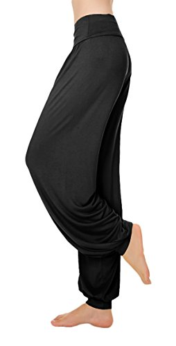 [VSVO Dance Women's Black Sports Dance Pants (Small, Black)] (Ballroom Costume For Men)