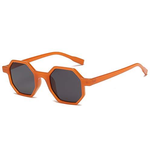 Hommes Plein Protection Frame De Sports Orange Air Octagon Petit Lunettes Femmes Uv Gray Soleil Lens Unisexe Fish Polygonal dw47qdz