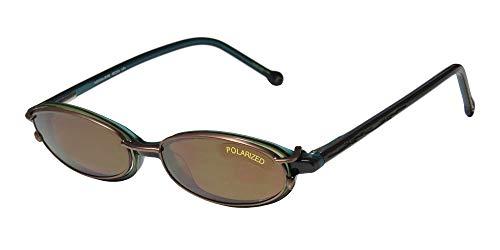 SmartClip 908 Mens/Womens Designer Full-Rim Shape Sunglass Lens Clip-Ons Flexible Hinges Eyeglasses/Spectacles (48-16-140, Aquamarine/Olive) (Aqua-brillen Frames)