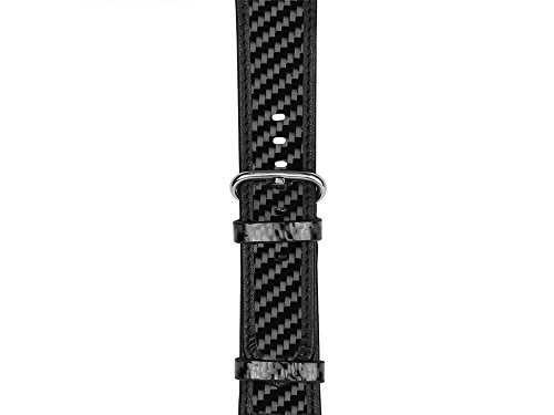 Series 1 Carbon (Real Carbon Fiber and Leather Band for Apple Watch 42mm, Series 3/2/1 - by Carbon Fiber Gear)