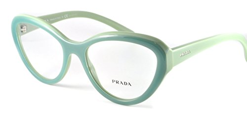 Prada Eyeglasses PR25RV TKQ1O1 Matte Opal Green On Green 54 18 140