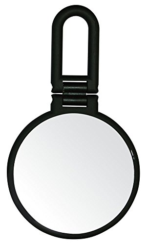 Danielle Creations Midnight Matte Folding Hand Mirror, 10X Magnification by Danielle Enterprises