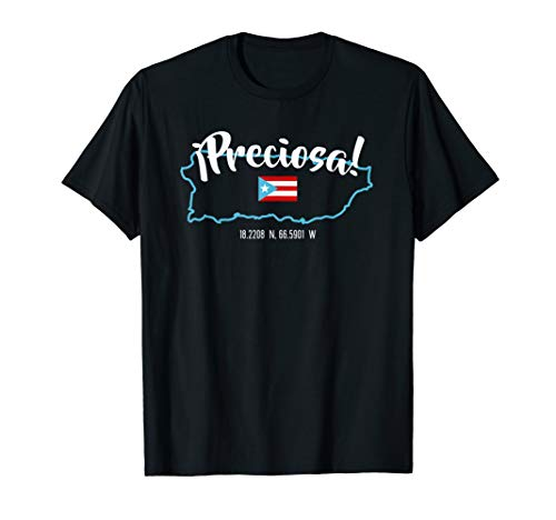 Puerto Rico T-Shirt - Preciosa Puerto Rican Pride Boricua  T-Shirt